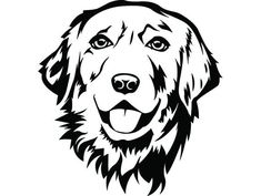 PNG Clipart Vector Cricut Cut Cutting File – Famous Last Words Handmade Dog Collars, Wood Burning Art, Golden Retriever, Smiling Dogs, Pet Puppy, Pyrography, Dog Art, Animal Drawings, Dog Breeds