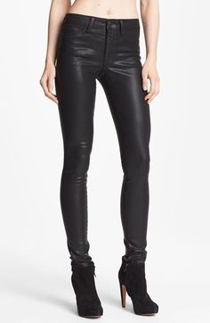 These jeans are AWESOME!!  They are stretch jeans that have a leather look - but sooooo much more comfortable!!!!