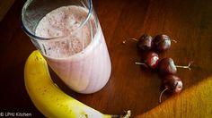 Banana Cherry Smoothie - top 8 allergen free recipe by @lphjkitchen