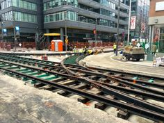 April 7, 2016: Track Work, image by Craig White #Toronto #tracks #TTC #transit #transportation #UrbanToronto #city #streetcar
