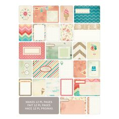 Project Life Themed Cards 60 Pack - Summer   Hobbycraft #projectlife #scrapbooking #hobbycraft #papercraft #makingmemories