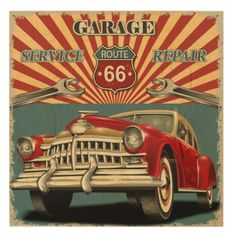 Find Vintage Garage Retro Poster stock images in HD and millions of other royalty-free stock photos, illustrations and vectors in the Shutterstock collection. Vintage Trucks, Vintage Ads, Vintage Signs, Vintage Style, Vintage Music, Fashion Vintage, Auto Poster, Car Posters, Poster Poster