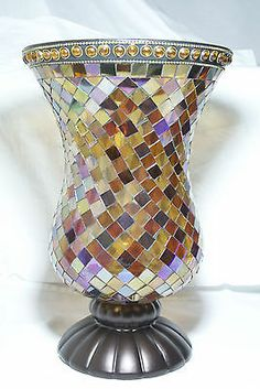 Partylite Global Fusion Hurricane MOSAIC GREAT FOR VALENTINE DAY P8366 RETIRED Seller information dtwardell (211 ) 100%Positive feedback  F...