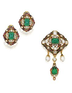 Earrings and Brooch1870sSotheby's