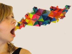 DIY 3D Geometric Paper Sculpture - YouTube