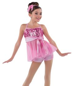 NWT CANDY PINK LEOTARD JAZZ BALLET BUBBLE LACE ROSE RUFFLE CHILD SIZES