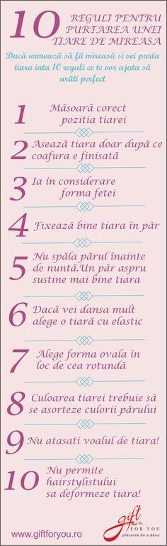 #tiare #mireasa #reguli #giftforyou