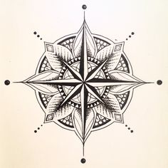 I love the idea of bringing together mandala design with compasses