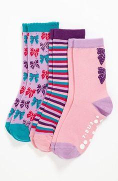 Nordstrom 'Pretty Present' Crew Socks (Walker Girls, Toddler Girls & Little Girls)   Nordstrom