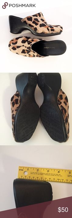 Naturalizer leopard calf hair clog mules Excellent used condition.  Measurements happily given upon request!  No trades. Reasonable offers welcome Note: 20% off bundles of 2+ items in my closet! Naturalizer Shoes Mules & Clogs