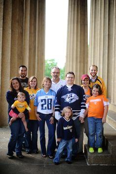 family photo shoot - loved the sports jersey idea