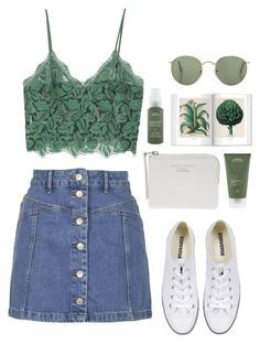 """""""Miranda"""" by fashionableforeign ❤ liked on Polyvore featuring Converse, Topshop, MANGO, Aveda and Acne Studios"""