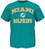 Majestic Miami Dolphins Heart & Soul III Men's T-Shirt - Teal (Medium)