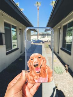 Get YOUR pet hand-drawn & UV printed on a transparent OR colored Eco-friendly phone case now.