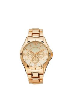 Titanium Crystal Accent Chronograph Bracelet Watch, 38mm (Juniors) available at #Nordstrom (In ROSE GOLD)