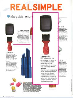 We love seeing #MegaEffects Mascara in the August 2013 issue of @Real Simple.