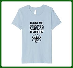 Kids Trust Me, My Mom is a Science Teacher T-Shirt 6 Baby Blue - Math science and geek shirts (*Amazon Partner-Link)