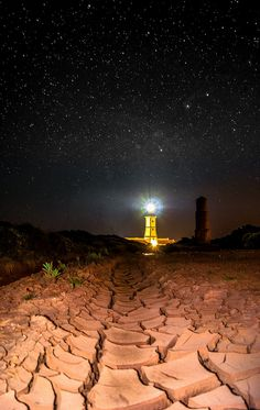 Starry Night -  Lighthouse, Portugal