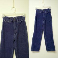 SANROY . high waist . blue denim jeans . kids size 10 regular by june22 on Etsy