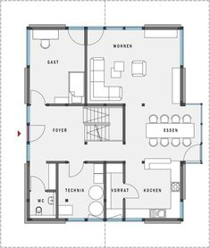 Grundriss Erdgeschoss HUF Haus modum 8 10