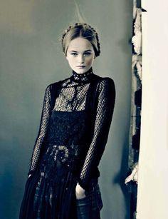 Publication: Vogue Italia March 2014 Model: Jean Campbell Photographer: Paolo Roversi Fashion Editor: Jacob K Hair: Eugene Souleiman Make-up: Petros Petrohilos