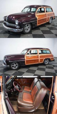Custom Cars For Sale, Woody Wagon, Station Wagon, Mercury, Vintage Cars, Vehicles, Car, Classic Cars, Retro Cars