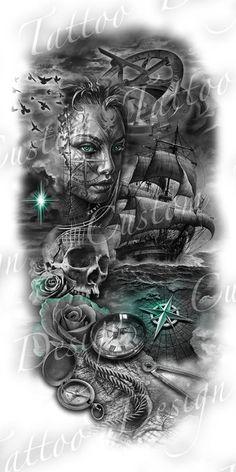 tattoo designs gallery - Tattoos And Body Art Tattoos And Body Art Kunst Tattoos, Bild Tattoos, Skull Tattoos, Leg Tattoos, Body Art Tattoos, Tattoos For Guys, Tattoo Art, Tatoos, Manga Tattoo