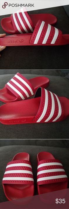 5270e6009 Adidas adilette scarlet white I got these as a gift
