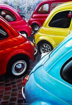 Fiat 500 Car, Fiat Cars, Fiat 600, Fiat Cinquecento, Fiat Abarth, Retro Cars, Vintage Cars, Vespa S, Steyr