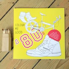 1980s Colouring In Book For Grown Ups