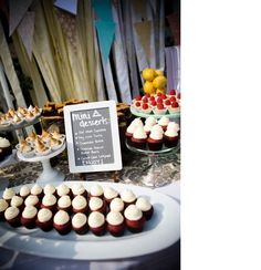 Mini dessert table set up