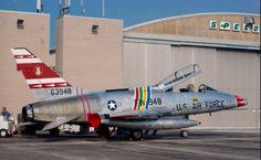 A nicely kept F-100F Super Saber.