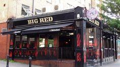 "loveoflondon: ""Big Red restaurant and bar on Holloway Road in Holloway, Borough of Islington. """