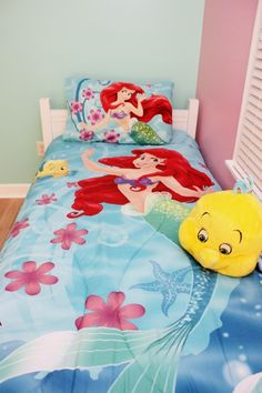 The Little Mermaid Bedding. Check Out Our The Little Mermaid Bedroom  Makeover From Start To
