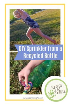 Cool off and get your kids involved in an activity for the afternoon by making your very own sprinkler! Here's how: #summerforkids #activitiesforkids #summeractivities #DIYSprinkler #STEAMforkids #artforkidsathome #summerartcamp #childrensartwork #STEMforkids #learningthroughplay #ecofriendlyliving #summercamp #summercamping #earlychildhoodeducation #keepingkidsbusy #funactivities #letthemexplore #kidswhoexplore #greenkidcrafts
