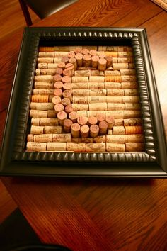 Framed cork maybe have cork heart or letters