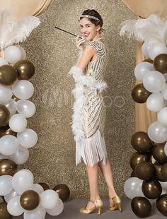 3d744dd23aa3 1920s Flapper Dress Great Gatsby Costume Women's Sequin Tassels Bead Dress  #Great, #Gatsby, #Dress