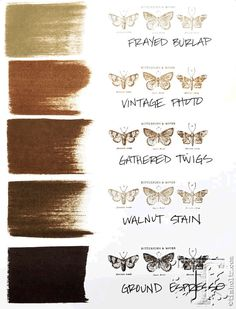 And here's how Tim Holtz new distress color Ground Espresso fits into the distress color palette.