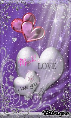 i love you purple Purple Love, All Things Purple, Purple Hearts, Heart Wallpaper, Love Wallpaper, Heart Pictures, Pretty Pictures, Heart Images, Beau Gif