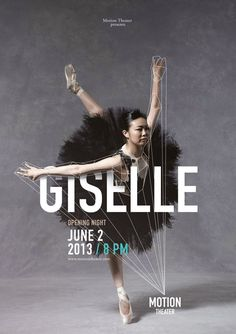 Giselle_Poster | Motion Theather Identity