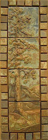pine panel stony glazes