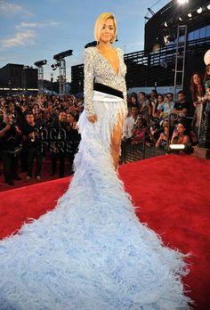 MTV Video Music Awards 2013: Rita Ora walks the red carpet.