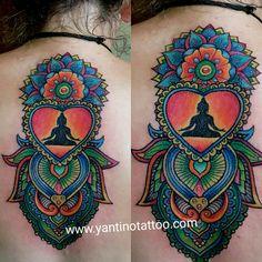 #mandala #tattoo #designe #color #bali #ubud  www.yantinotattoo com