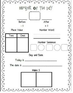 Great beginning of the year for first grade math. Would love to staple this into Math journals!