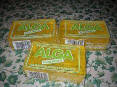 Questo e' il sapone alga ecologico che ho comprato stamani ben 3 panetti. Il sapone alga e' a base di olio di cocco glicerina e acqua, nient... Housekeeping, The Cure, Sweet Home, Cleaning, Homemade, Diy Crafts, 3, Green, Food