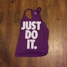 Nike tank top Purple Nike dri-fit tank top great condition worn once or twice. Smoke free home Nike Tops Tank Tops