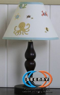 $14.99-$20.99 Baby Sea World Animals Lamp Shade A Geenny children's lamp shade which is especially designed to coordinate with its nursery bedding set to help complete the look and feel of your little one's nursery.  Care: Spot clean