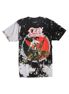Ozzy Osbourne The Ultimate Sin Bleached T-Shirt, TIE DYE