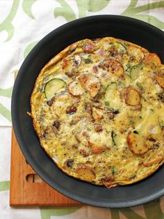 Potato Bacon Frittata by @Lauren Martin at Oatmeal after Spinning