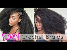 Crochet Extensions with Side Braids - http://community.blackhairinformation.com/video-gallery/braids-and-twists-videos/crochet-extensions-side-braids/